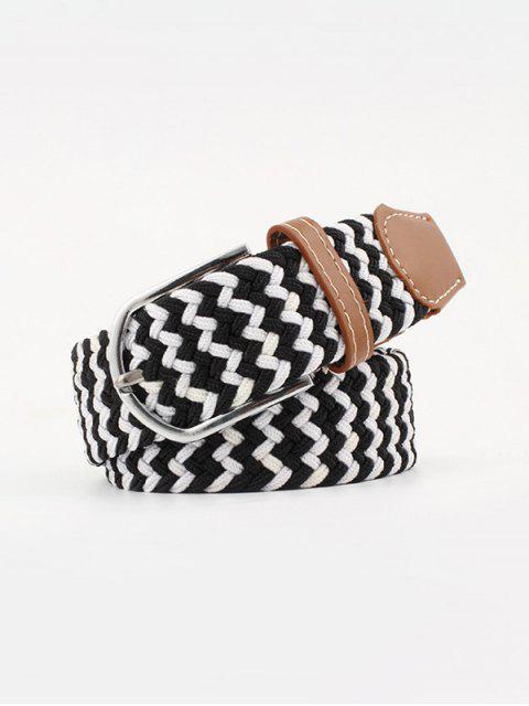 best Mixed Color Braid Elastic Canvas Buckle Belt - MULTI-B  Mobile