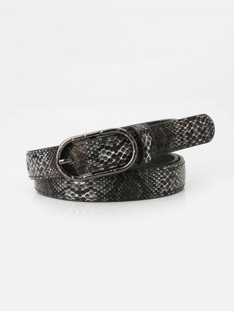new Snakeskin Pattern Jeans Pin Buckle Belt - MULTI-C  Mobile