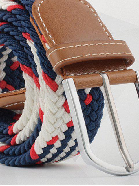 fancy Mixed Color Braid Elastic Canvas Buckle Belt - MULTI-A  Mobile