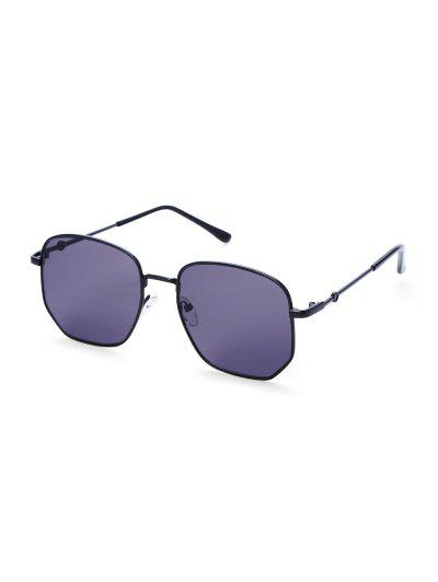 Metal Anti UV Irregular Sunglasses - Purple