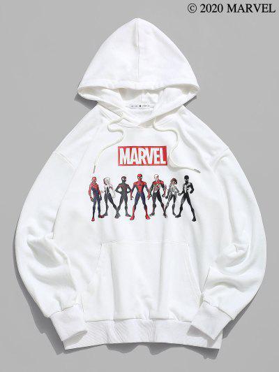 Marvel Spider-Man Spider-Girl Heroes Graphic Hoodie - White L