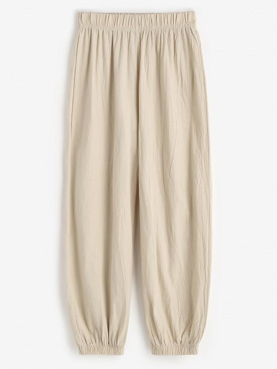 Pantalones Estampado Cruces Deportivos - café luz L