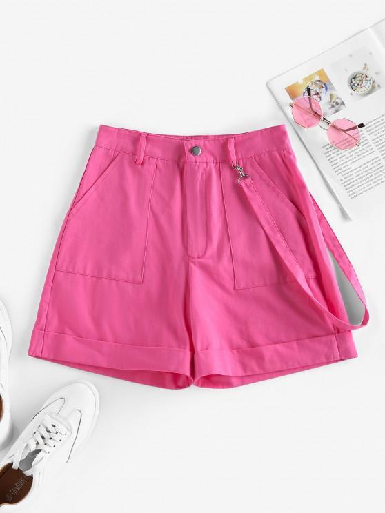online ZAFUL High Waisted Pockets Palazzo Shorts - LIGHT PINK M