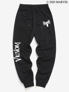 Marvel Spider-Man Venom Print Sweatpants - Black M