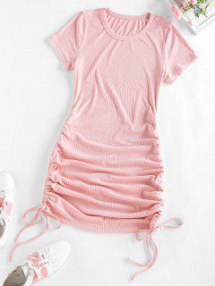 ZAFUL Mini Vestido Ajustado Con Cordones Frontales - Rosa Claro S
