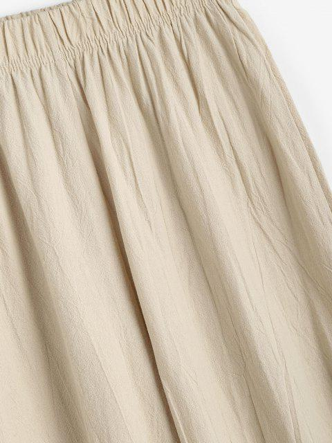 ladies Elasticated Cuffs Pull On Pants - LIGHT COFFEE S Mobile