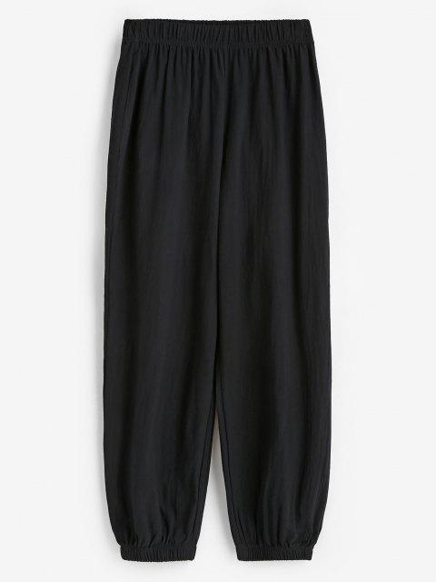 outfits Elasticated Cuffs Pull On Pants - BLACK L Mobile