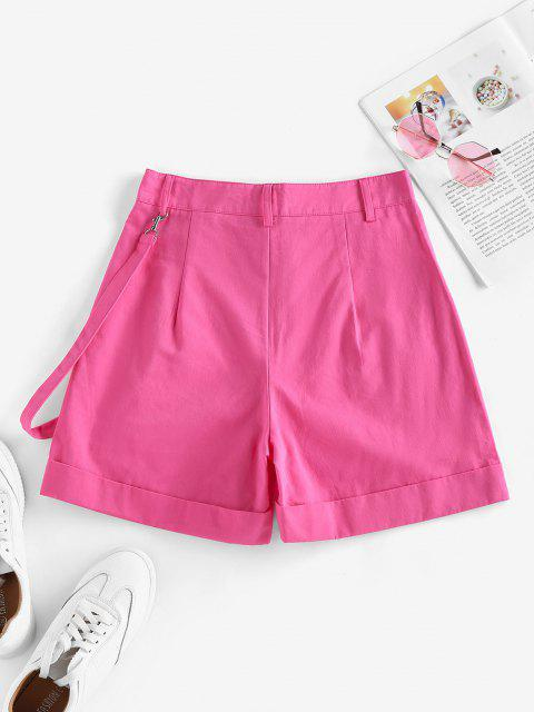 ZAFUL Palazzo Shorts mit Hoher Taille und Taschen - Hell-Pink M Mobile