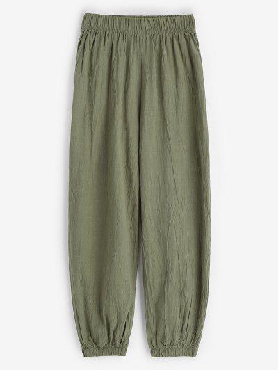 Calças Elastizado Perna Longa - Verde Xl
