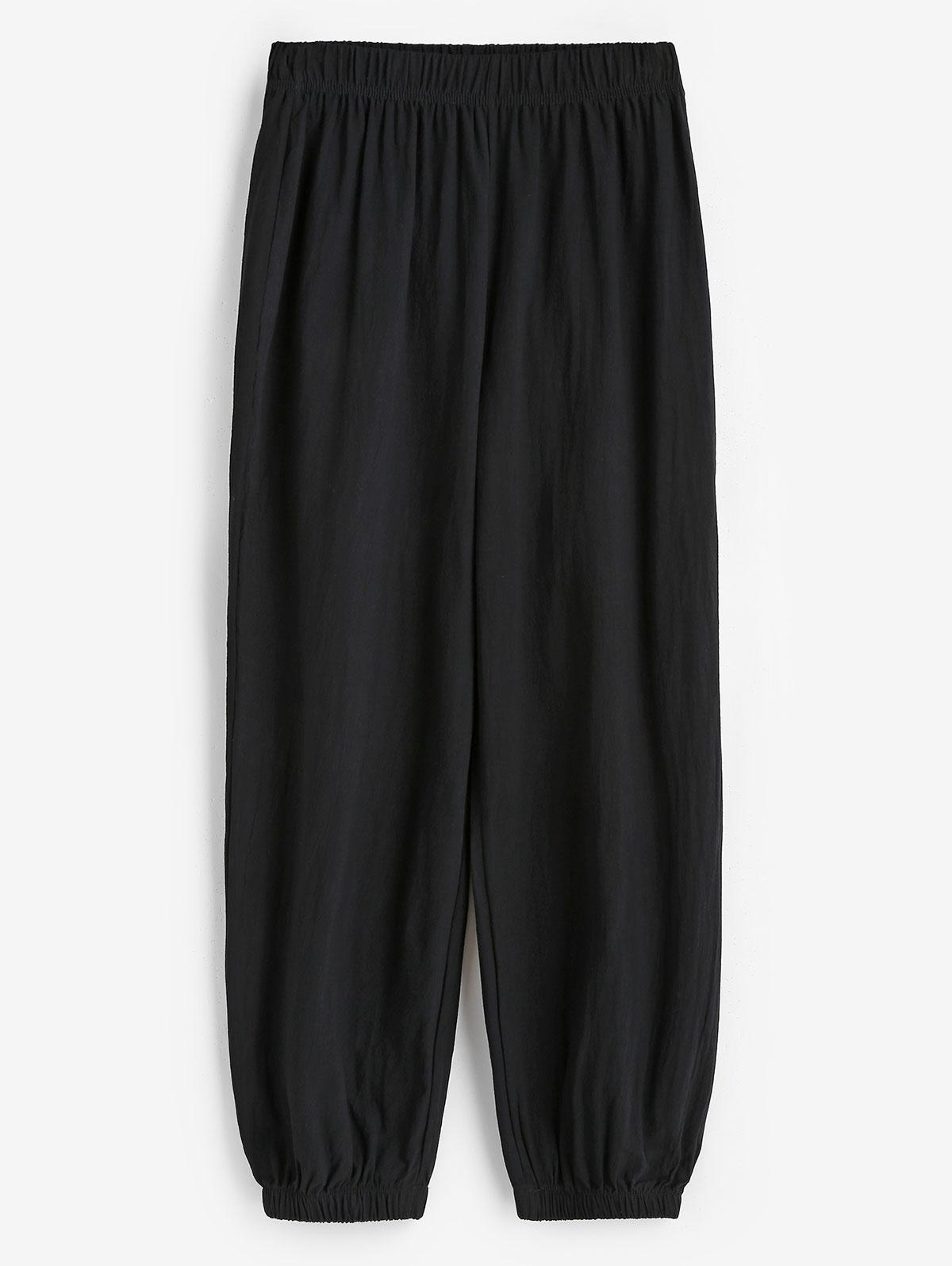 Elasticated Cuffs Pull On Pants