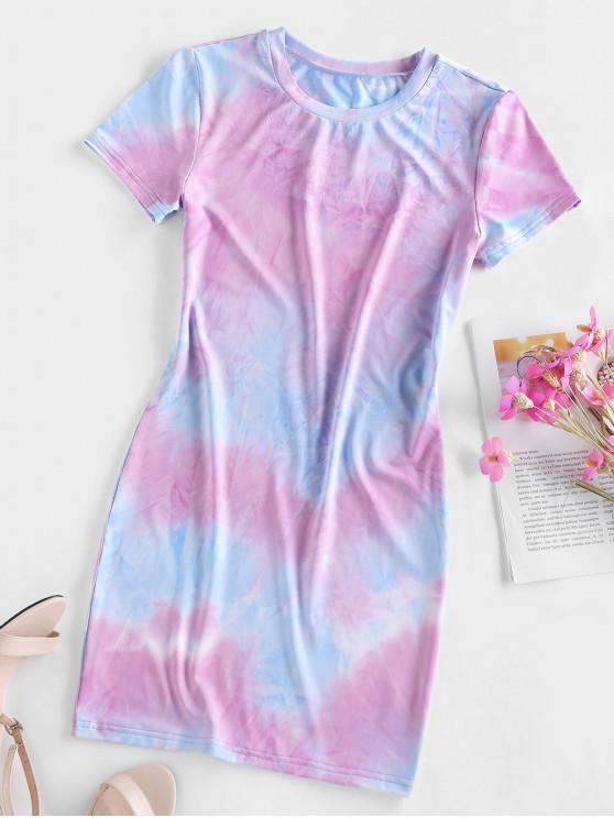 women's ZAFUL Tie Dye Bodycon Mini Dress - MULTI-D S
