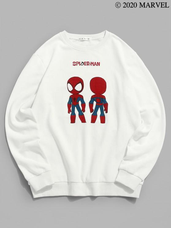 fashion Marvel Spider-Man Graphic Sweatshirt - WHITE 2XL
