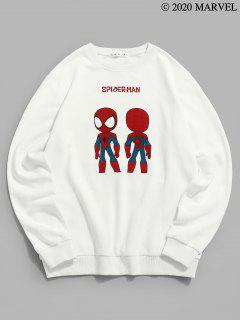Marvel Spider-Man Graphic Sweatshirt - White M