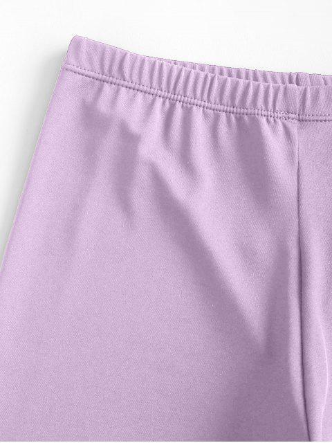 Shorts Elásticos de Motociclista con Cintura Alta - purpúreo claro L Mobile
