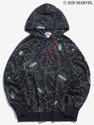 Sudadera Con Capucha ConEstampadode Spider-Man - Negro M