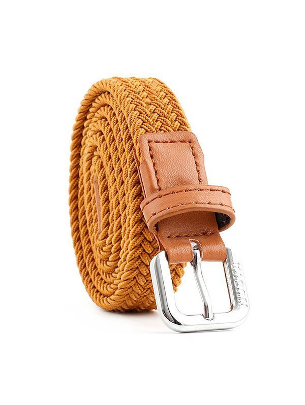 Braided Elastic Casual Canvas Belt