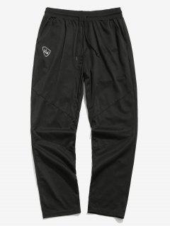 Crown Print Elastic Waist Pants - Black 2xl
