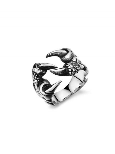 lady Retro Dragon Claw Opening Ring - GUNMETAL US 10 Mobile