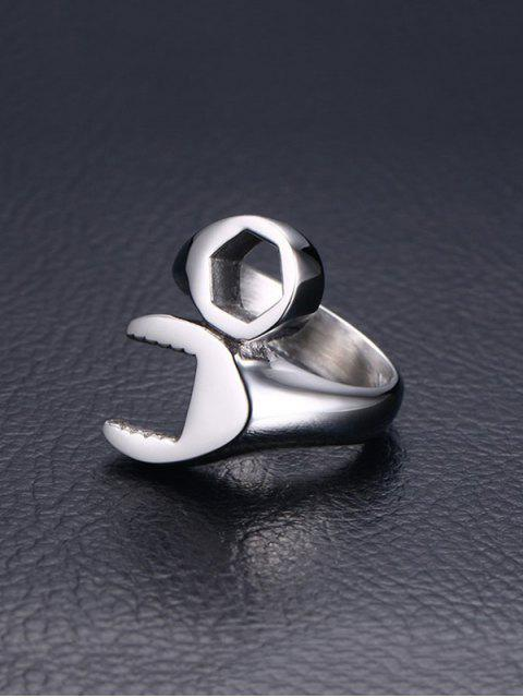 online Wrench Design Stainless Steel Ring - SILVER  Mobile