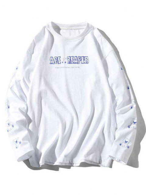 T-shirt do Gráfico da Letra - Branco 2XL Mobile