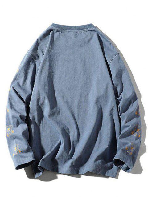 hot Letter Bear Graphic T-shirt - SILK BLUE 3XL Mobile