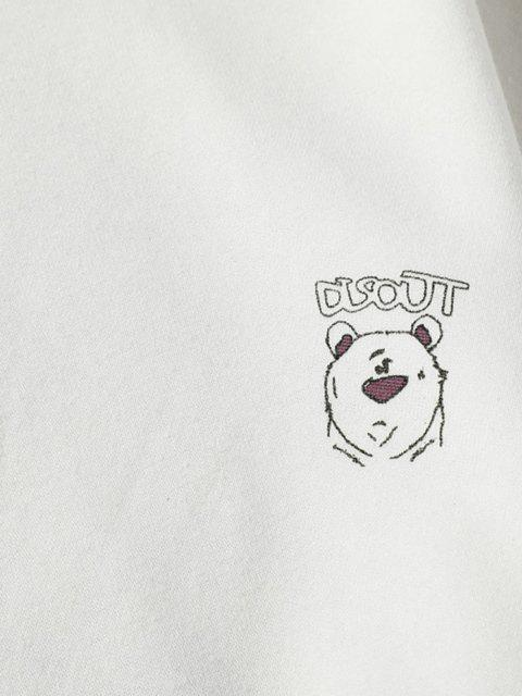 Sweat-shirtPeintureDessinAniméImprimé à Col Rond - Blanc 4XL Mobile