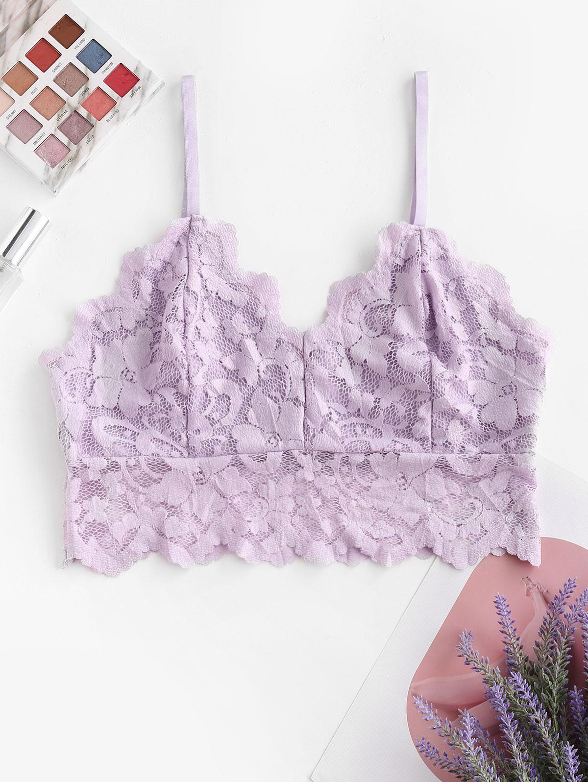 Flower Lace Pullover Bralette Lingerie Bra