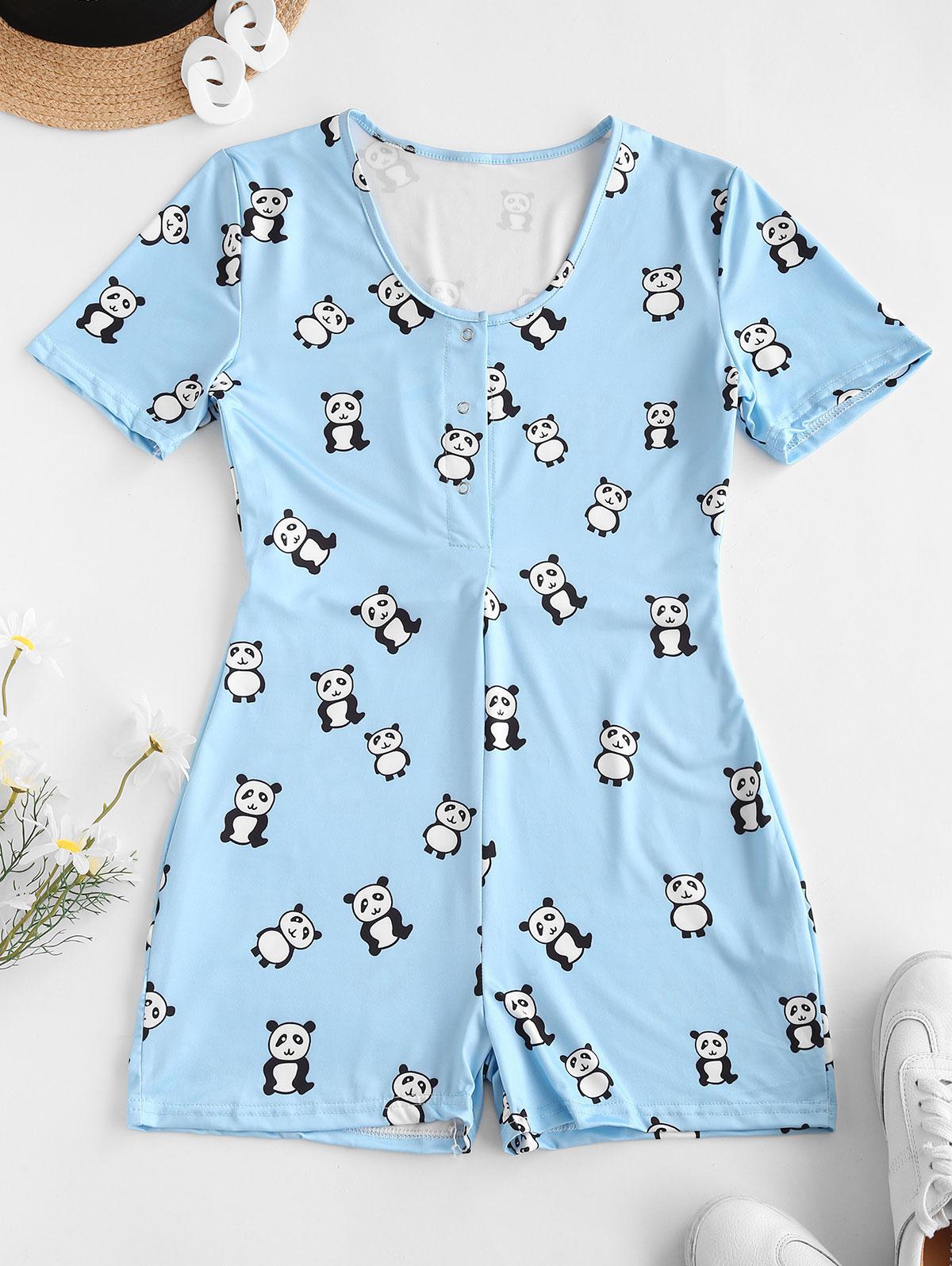 zaful Panda Print Romper