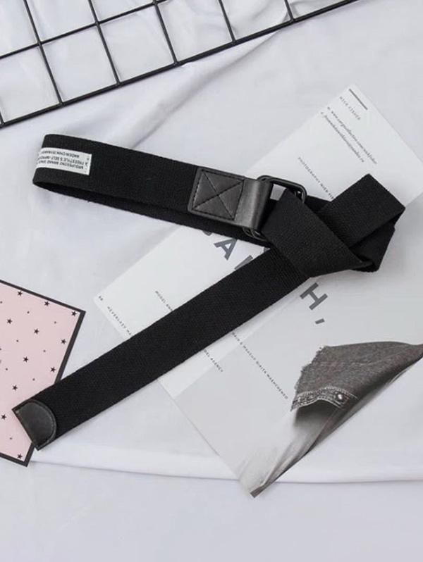 Casual Canvas Double Ring Buckle Belt