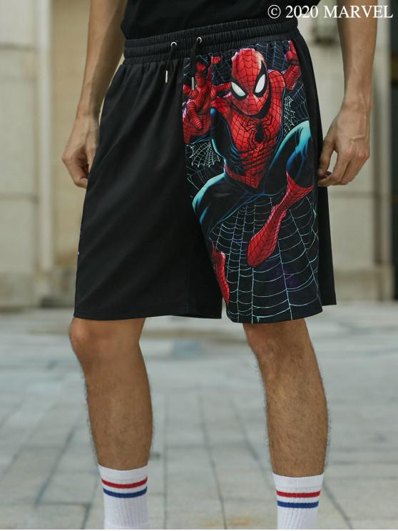 fancy Marvel Spider-Man Slinger Graphic Shorts - BLACK M