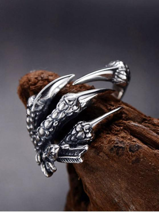 Dragon Claw Stainless Steel Open Ring - جونميتال