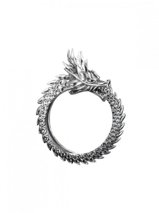 Chinese Style Dragon Open Ring - جونميتال