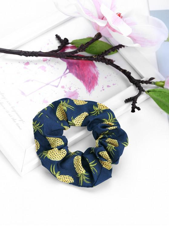 Pineapple Printed Elastic Fabric Scrunchy - أسود