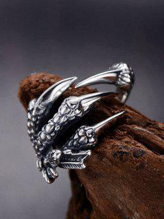 Dragon Claw Stainless Steel Open Ring - Gunmetal