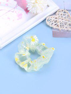 Capa Gasa Transparente Estampado Floral - Amarillo Claro