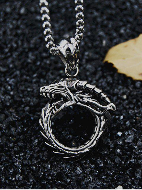 fashion Punk Snake Pendant Chain Necklace - BLACK  Mobile