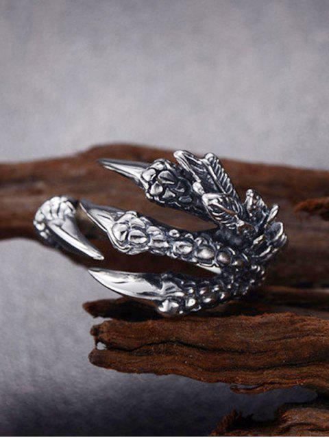 buy Dragon Claw Stainless Steel Open Ring - GUNMETAL  Mobile