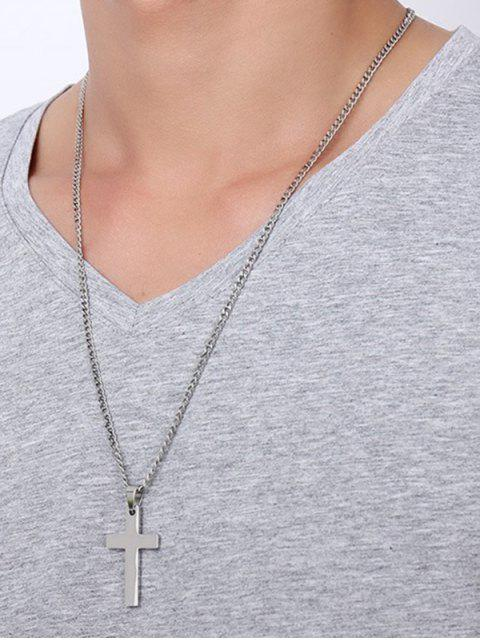 new Cross Pendant Stainless Steel Necklace - SILVER  Mobile