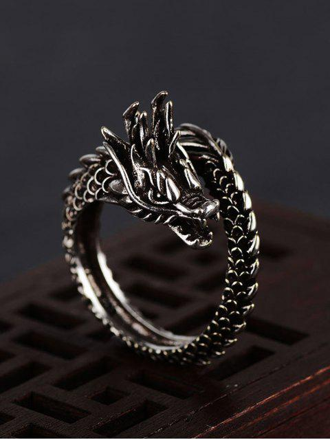 outfit Chinese Style Dragon Open Ring - GUNMETAL  Mobile