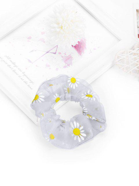 affordable Daisy Flower Chiffon Transparent Scrunchy - GRAY  Mobile