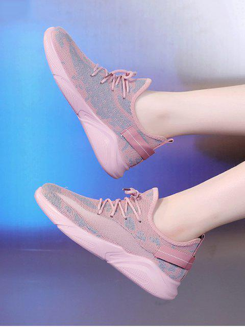 sale Mesh Breathable Camo Sneakers - LIGHT PINK EU 40 Mobile