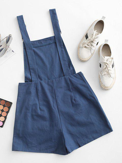 latest ZAFUL Pocket Loose Overall Romper - BLUE S Mobile