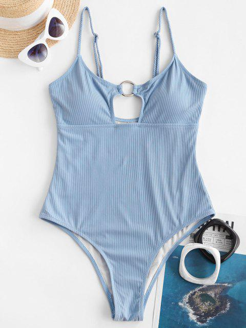 Maglione di ZAFUL con Centro di Separazione - Azzurro L Mobile