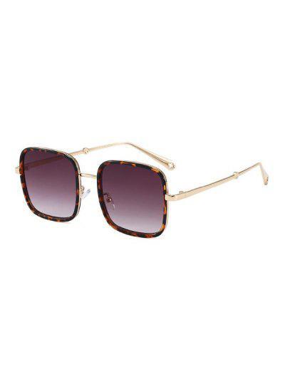 Retro Large Square Sunglasses - Purple