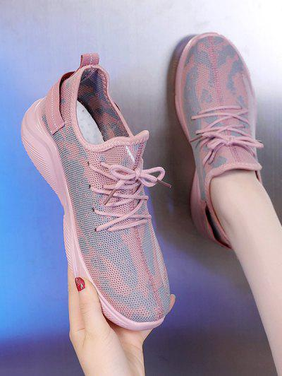 Mesh Breathable Camo Sneakers - Light Pink Eu 38