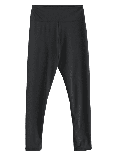 Solid Stitching High Waisted Sports Leggings