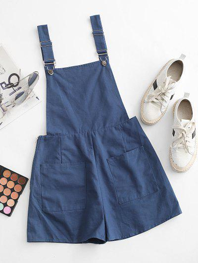 ZAFUL Pocket Loose Overall Romper - Blue M
