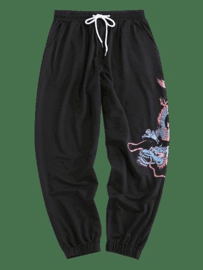 ZAFUL Dragon Print Jogger Pants
