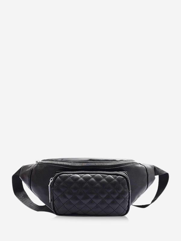 Quilted Leather Adjustable Chest Crossbody Bag