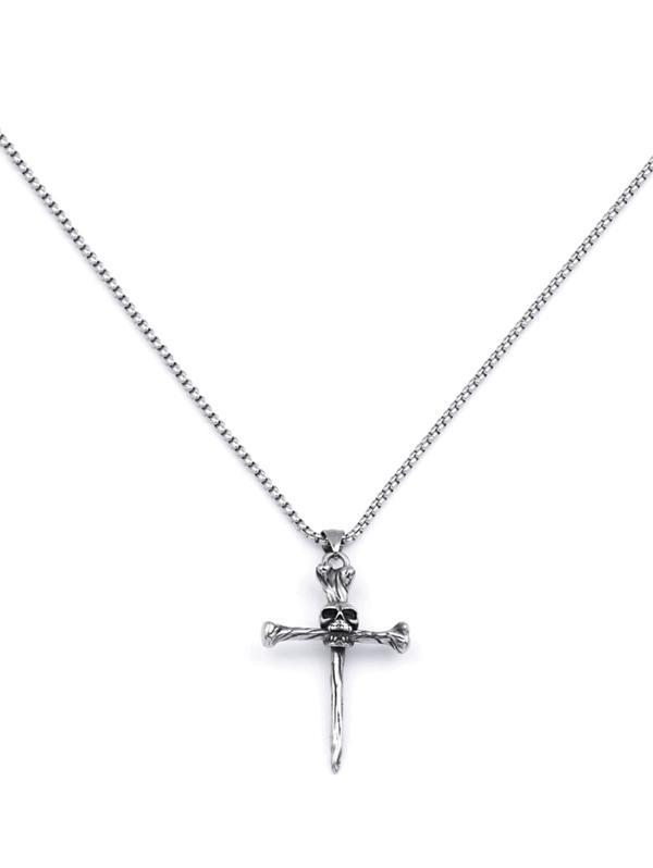 Skull Cross Pendant Necklace